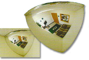 90 Degree Mirrored Domes Safety Security Mirrors And Domes
