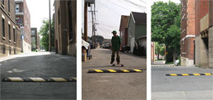 Alley Speed Bumps Rubber Speed Humps And Parking Blocks