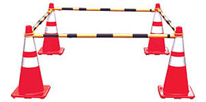 Retractable Cone Bar Barricade Traffic Control Barriers