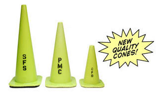 ANSI Lime Green Traffic Safety Cones