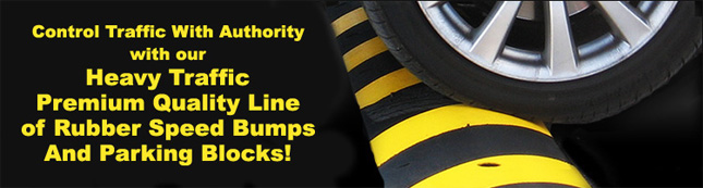 rubber speed bumps speed humps and parking blocks - Rubber Speed Bumps