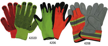 Fluorescent Work And Safety Gloves