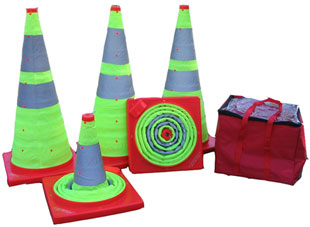 Collapsible Green Heavy Duty Reflective Traffic Safety Parking Cone