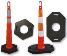 Looper Cone Traffic Safety Cone Portable Delineator Posts Channelizers Markers