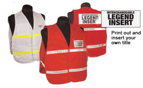 3000 Series Homeland Security Public Safety Incident Command Police Fire Safety Vests