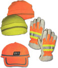 High Visibility And Fluorescent Caps Hats And Gloves