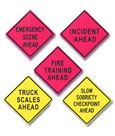 Safety Orange Roll Up Signs