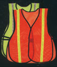 Mesh And Solid High Visibility Reflective Safety Vests