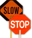 Stop/Slow Paddle Signs