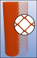 Orange Diamond Crowd Control Safety Plastic Fencing And Netting