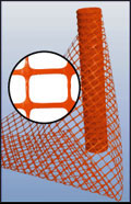 Orange Flat Mesh Safety Plastic Fencing And Netting
