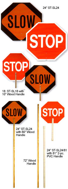 Paddle Traffic Control Signs Stop Slow Handle